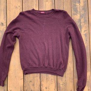 Brandy Melville light sweatshirt in burgundy